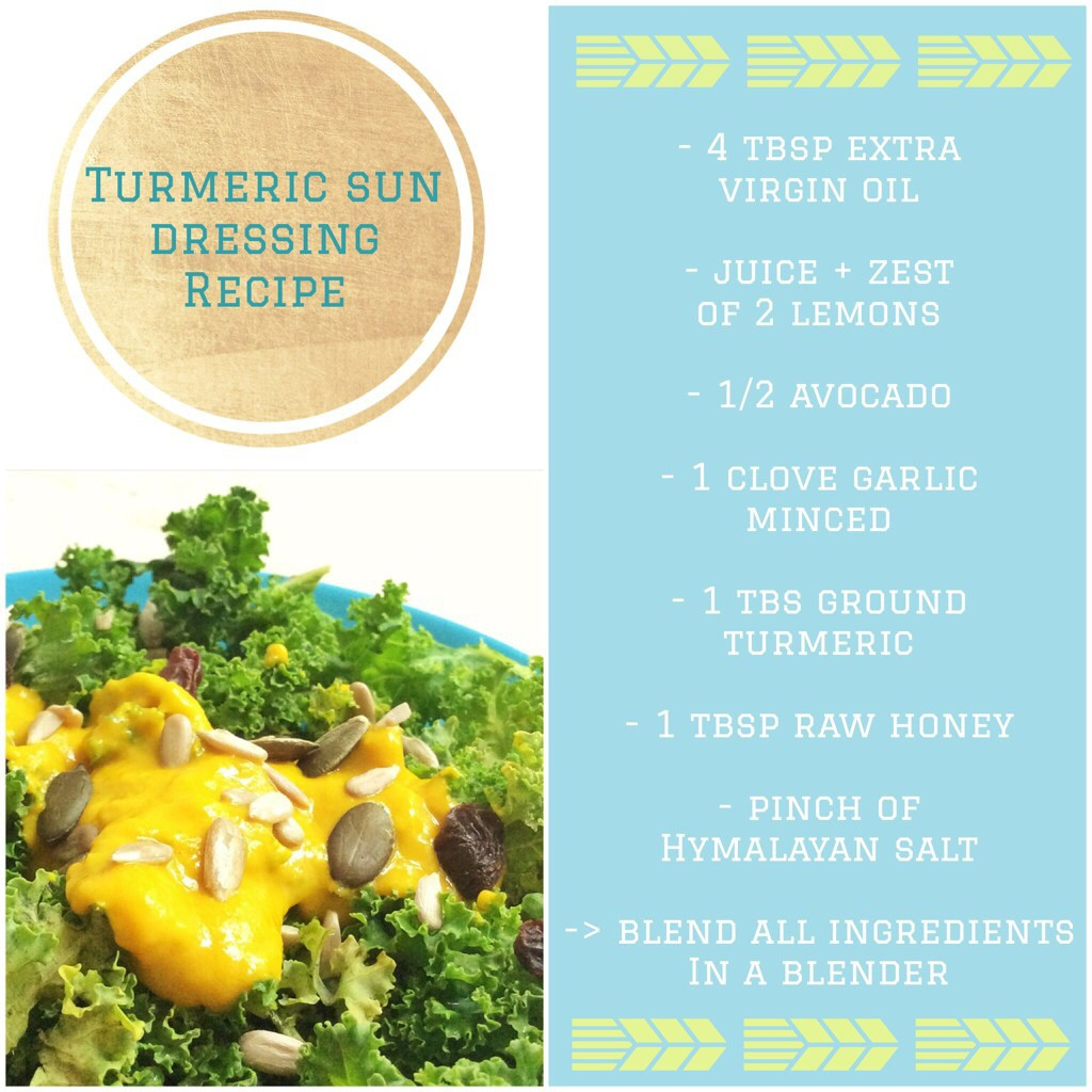 Turmeric dressing recipe