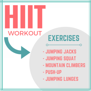 HIIT WORKOUT DETAILS